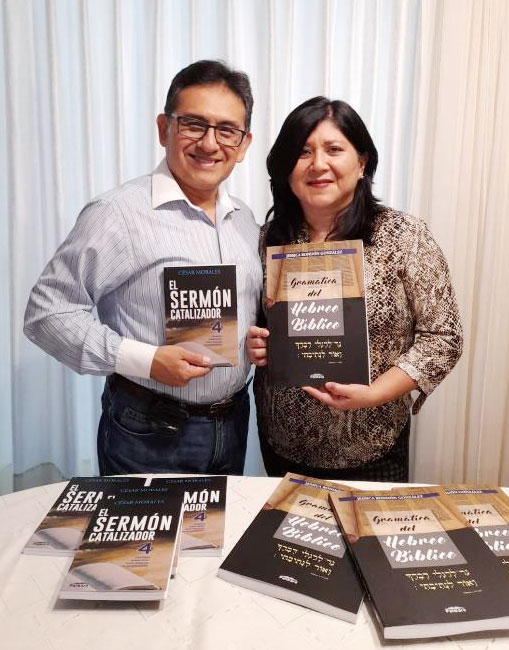 Cesar and Jessica Morales with their new books